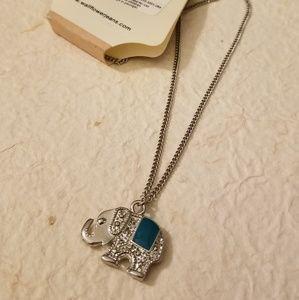 NWT Turquoise Elephant Necklace